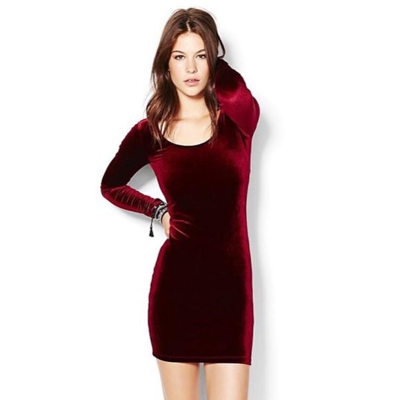 American Apparel Dresses & Skirts - American Apparel Burgundy Red Velvet Mini Dress